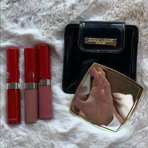 Armani lipstick and mirror